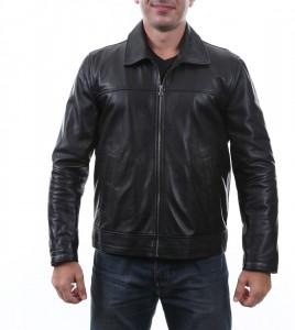 cotton bar siyah deri ceket 268x300 Boyner Deri Ceket